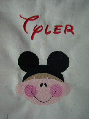 Boy Mouse Ears Tote Bag