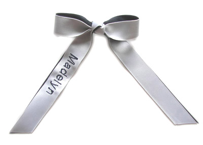 GRAND CHAMP Monogram Single Name Cheer Bow