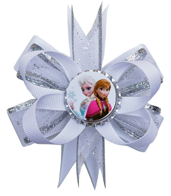 Medium (Toddler) Disney FROZEN Anna & Elsa Layered Bow