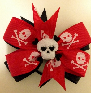 Medium Skull Red and Black