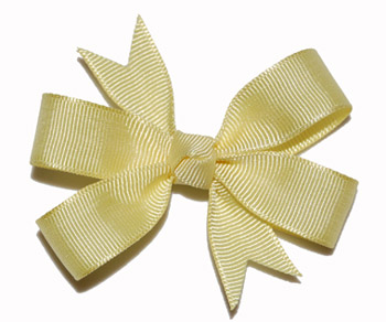 Small (Baby) Light Yellow Bow