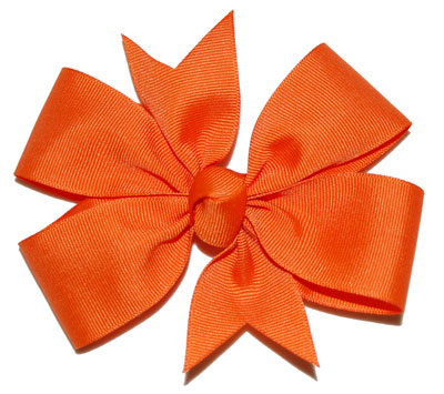 Large Orange Bow