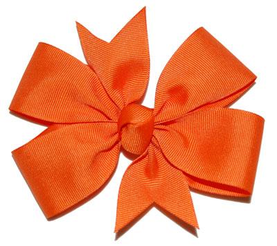 Large Orange Bow