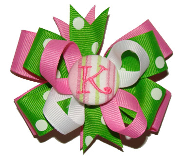 Medium (Toddler) Passion Fruit Button Boutique Bow
