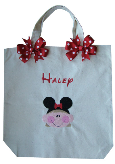 Girl Mouse Ears Tote Bag