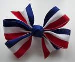 Toddler (Medium) Red/White/Blue Stripe Bow