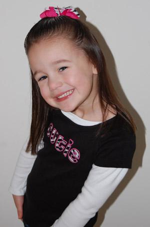 Medium (Toddler) Zebra Button Boutique Bow