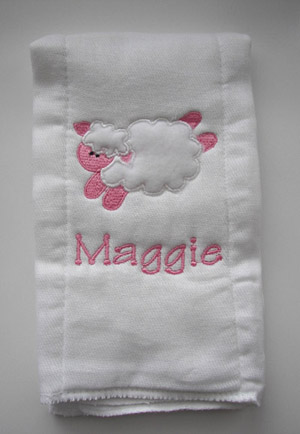 Lamb Burp Cloth