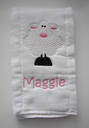 Sheep Burp Cloth