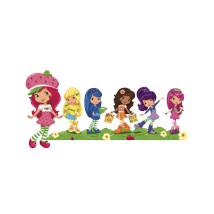 Medium (Toddler) Strawberry Shortcake & Friends Bow